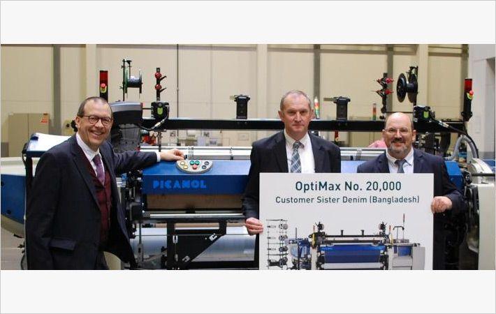 Picanol生产20,000个Optimax剑杆织机